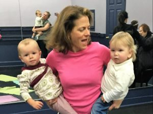 Susan holding two kids