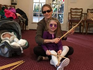 mom and daughter with sunglasses